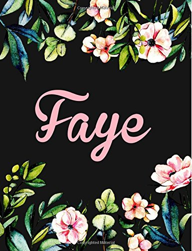 Faye: Personalised Name Notebook/Journal Gift For Women & Girls 100