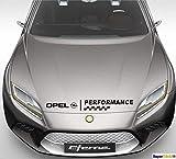 SUPERSTICKI Opel Performance Flagge Fahne ca. 50 cm Rennsport Racing Tuning Hobby Sticker Decal Deko Aufkleber Sticker Decal aus Hochleistungsfolie Aufkleber Autoaufkleber Tuningaufkleber...