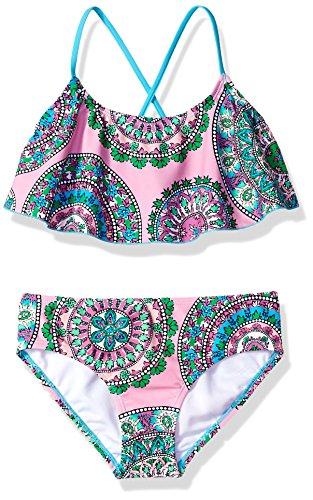 Kanu Surf Mädchen Flounce Beach Sport 2-Piece Swimsuit Bikini-Set, Jasmin Pink, 38 DE