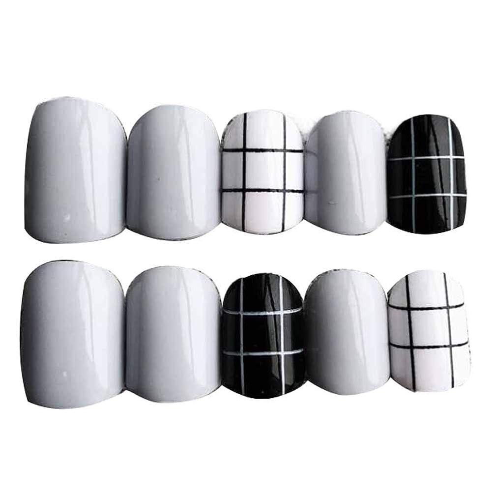リサイクルする悪夢デコレーショングレー/ブラック 丸い偽爪人工偽爪のヒント 装飾