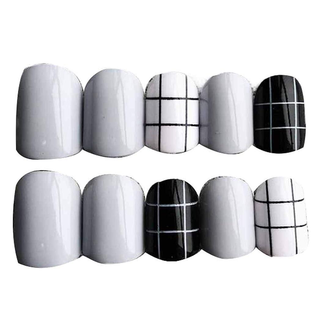 透明に購入本土グレー/ブラック 丸い偽爪人工偽爪のヒント 装飾