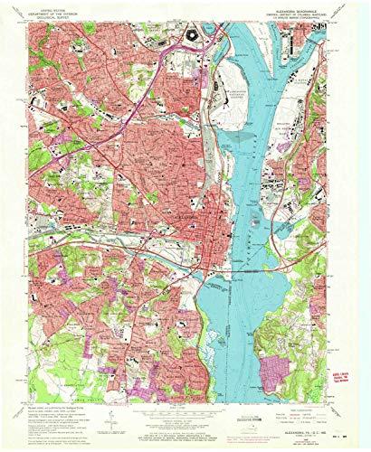 YellowMaps Alexandria VA topo map, 1:24000 Scale, 7.5 X 7.5 Minute, Historical, 1965, Updated 1971, 27 x 22.1 in - Polypropylene