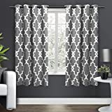Exclusive Home Curtains EH8136-01 2-63G Ironwork Sateen Woven Blackout Grommet Top Curtain Panel Pair, 52x63, Black Pearl, 2 Piece