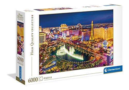 Clementoni-Las Vegas Puzzle Adulto, Multicolor (36528)