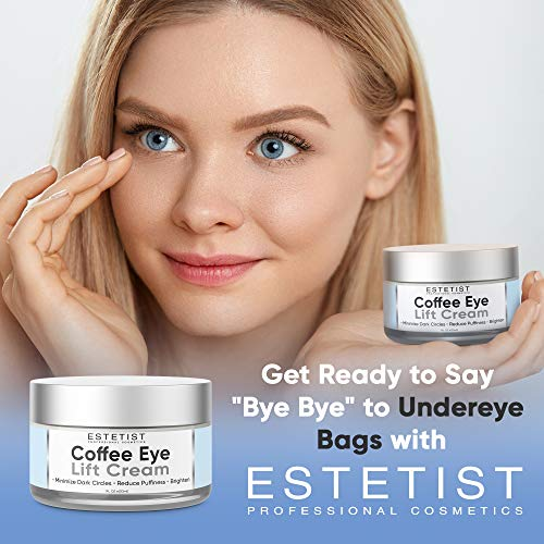 512zgHq1+cL - Caffeine Infused Coffee Eye Lift Cream - Reduces Puffiness, Brightens Dark Circles, Firms Under Eye Bags - Anti Aging, Wrinkle Fighting Skin Treatment