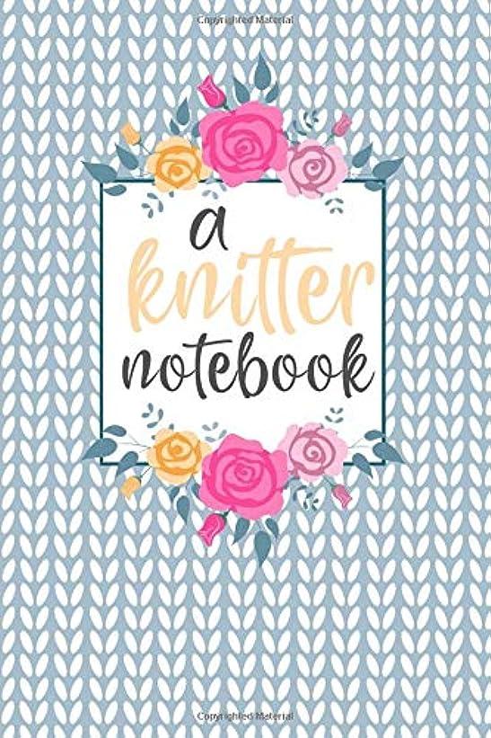 炎上スプーン行列A Knitter Notebook: Cute  4:5 Knitting Paper Notebook for Knit projects and patterns. Great gift for any Knittter!