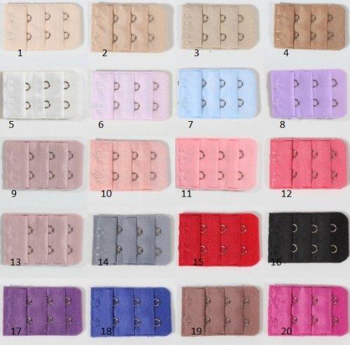 1 Rallonge Extension pour Soutien Gorge - 2 crochets - coloris 15