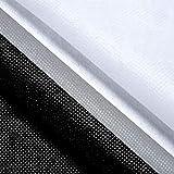 2 Interfaccia Fusibile Bianco e Nero Leggera Interfaccia in Poliestere Non Tessuto Non-Adesivo Interfaccia Termoadesivo Unilaterale per Lavori Manuali DIY, 40 Pollici x 6 Iarde (100 x 185 cm)