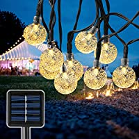Bexdir 22.9-Ft. Crystal Globe Outdoor Solar String Lights