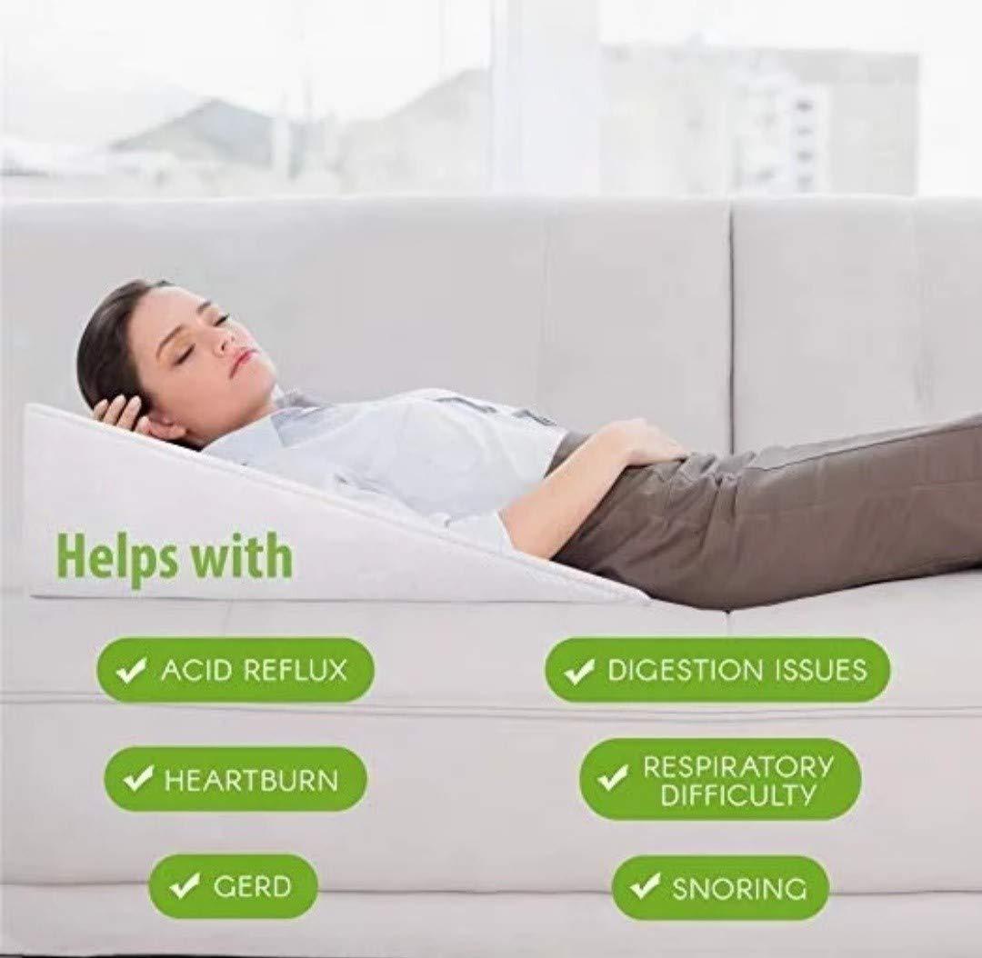 Novimed Medical Wedge Acid Reflux Pillow مخدة وسادة طبية لعلاج الارتجاع المريئي وارتجاع المريء البلعومي وصعوبة التنفس والشخير أثناء النوم ينصح بها أطباء الجهاز الهضمي وخبراء النوم Buy Online At Best