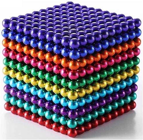 GFITNHSKI Kinderperlenbälle, magische Perlen, skulpturale Bausteine Spielzeug, Intellektuelle Lernentwicklung, Schreibtischspielzeug Spiele Multi-Color Perlen Erwachsene Dekompression Spielzeug 5mm