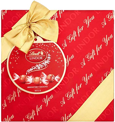 Lindt - Boîte Cadeau LINDOR - Chocolats au Lait - Fondants & délicats - 287g