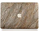 WOODWE Real Stone MacBook Skin for Mac Air 13 inch Non Retina Display | Model: A1237/A1304/A1369/A1466; Early 2008 – Mid 2017 | Burning Forest Stone | TOP&Bottom