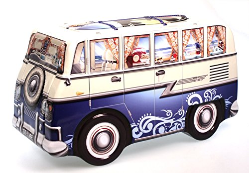 stylebox Blechdose Keksdose Deko Box Auto Camper Bulli blau