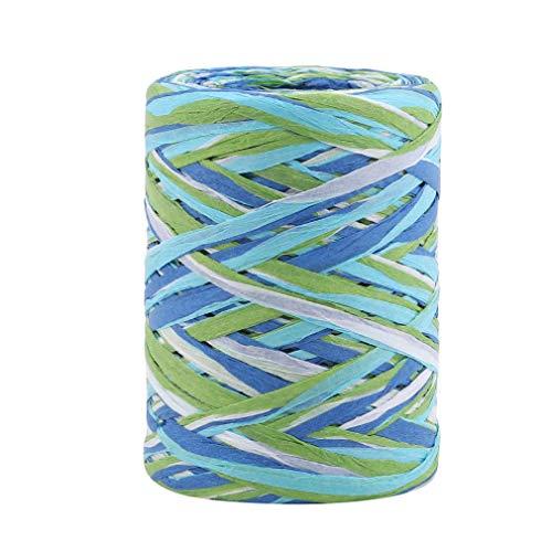 #N/A Sawyerda - Cinta de papel para manualidades (hecha a mano, herramientas de embalaje de regalo), color azul