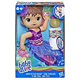 Baby Alive Shimmer n Splash Mermaid Baby Doll, Brown Hair