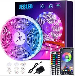 JESLED LED Strip Lights, 5M Smart Wifi LED Light Strips for Bedroom Works with Alexa & Google App, Color Changing RGB LED ...