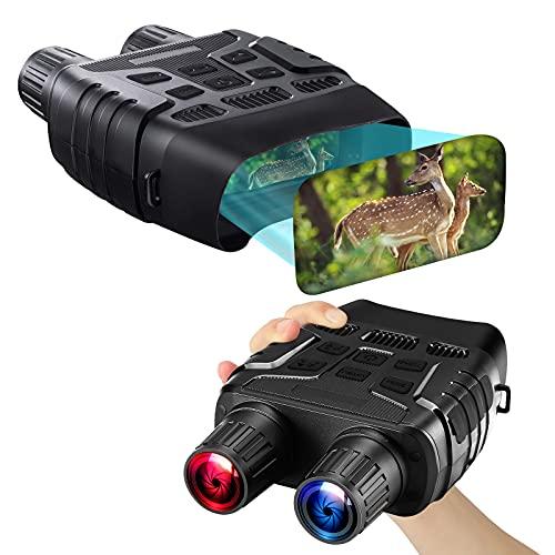 4x Digitales Nachtsichtgerät Binokular, 7x IR Pegel Infrarot Nachtsichtbrille Fernglas HD Zoom 1280x960P Video und Foto für Spotting Hunting, 2.3