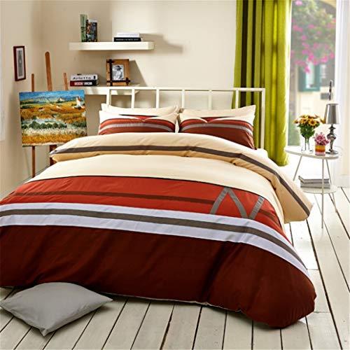 GHL.YTE Leisure All Cotton Sheet Type Four Piece Sheet Burgundy 200 * 230cm