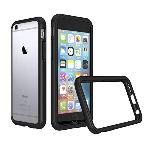 RhinoShield Coque Bumper Compatible avec [iPhone 6 / iPhone 6s] | CrashGuard - Housse Fine avec Technologie Absorption des Chocs - Noir