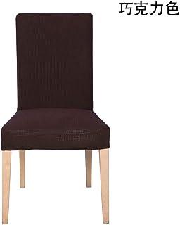 E EBETA Jacquard Fundas para sillas Pack de 4 Fundas sillas Comedor Fundas elásticas Cubiertas para sillas,bielástico Extraíble Funda, Muy fácil de Limpiar (Gris Oscuro, 6 Piezas)