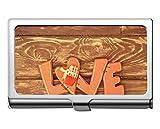 Titular de la tarjeta de identificación de crédito comercial, estuche de tarjeta de crédito/tarjeta de crédito Love rose art