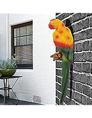 Decoración de loros Proceso de resina resistente al color Decoración de aves loro, Adornos de resina animal, Decoración artesanal