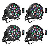 Stage Lights Package Wireless Battery Version, OPPSK 24W 24LED RGBW Par Lights Battery Power 4 Pack 8-15Hours Playing Remote DMX Control for Wedding Church Live Show DJ Stage Lighting Party - 4 Pack