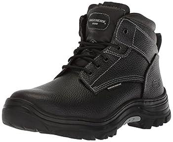 Skechers for Work Men s Burgin-Tarlac Industrial Boot,black embossed leather,9 W US