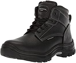 Skechers for Work Men's Burgin-Tarlac Industrial Boot,black embossed leather,11 M US