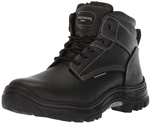 Skechers for Work Men's Burgin-Tarlac Industrial Boot,black embossed leather,10 M US