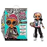 L.O.L. Surprise!- LOL Surprise OMG Guys Muñeco de Moda Cool Lev-con 20 sorpresas temáticas, Ropa y A...