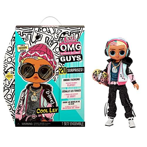 L.O.L. Surprise!- LOL Surprise OMG Guys Muñeco de Moda Cool Lev-con 20 sorpresas temáticas, Ropa y Accesorios. Juguete de colección niñas a Partir de 4 años, Color (576716C3)