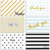 Blank Thank You Cards and Envelopes, All Occasion Greeting Cards (4 x 6 In, 48 Pack)