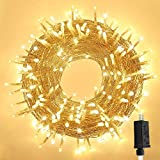 OZS 82FT 200LED Christmas String Lights Outdoor, Clear Wire Warm White Christmas Lights Indoor with 8 Modes, Twinkle Fairy String Lights for Garden Patio Bedroom Balacony Decor