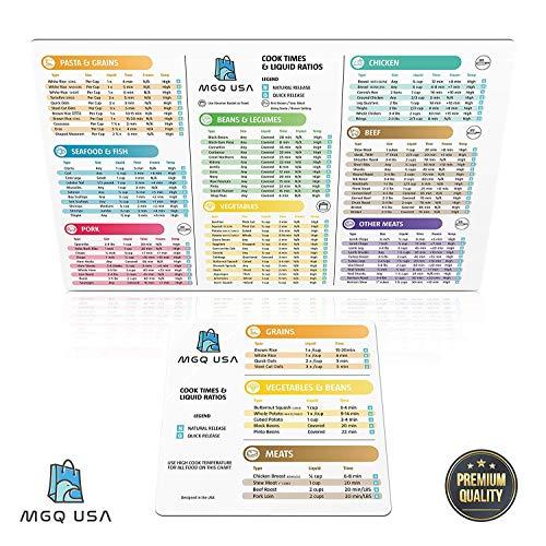 Instant Pot Cook Times Magnet – Instapot Kochen Cheat Bogen Aufkleber – Quick Reference Guide Set für 5-6 und 8 ml