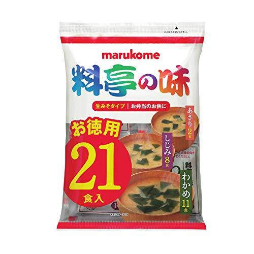 スマートマットライト マルコメ 生みそ汁 料亭の味 お徳用 即席味噌汁 21食×10袋