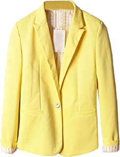 Mogogo Women's Candy-Colored Lapel Pockets Outwear Slim Fit Small Blazer