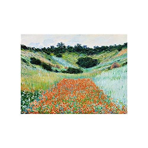 Carteles e impresiones de pintura de paisaje impresionista clásica, imágenes de arte nórdico simple, pinturas de lienzo sin marco A14 50x75cm