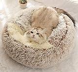 BoruisX Cama de felpa, para perro, gato, cojín redondo para mascotas, tienda de campaña, cálida cama para mascotas, saco de dormir para gatos, perros pequeños, cachorros, mascotas Samll