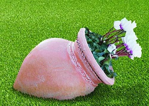 DEGARDEN Tinaja de decoración del jardín en Color y Acabados Terracota Barro cocido en Piedra Artificial (Hormigón) para Exterior | Maceta orza 62X36cm.