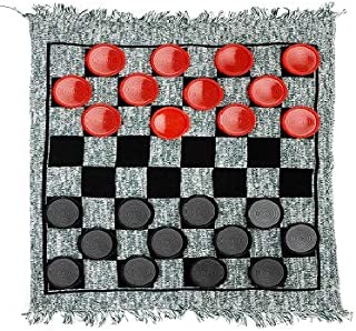 3 in 1 Giant Checkers Set – Calssic Indoor Outdoor Yard Games for Family Fun & Parties – Giant Board Games Including Giant...