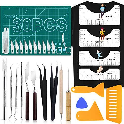 30 PCS Precision Craft Weeding Tools for Weeding Vinyl, DIY Art Work Cutting, Hobby, Scrapbook,Sewing