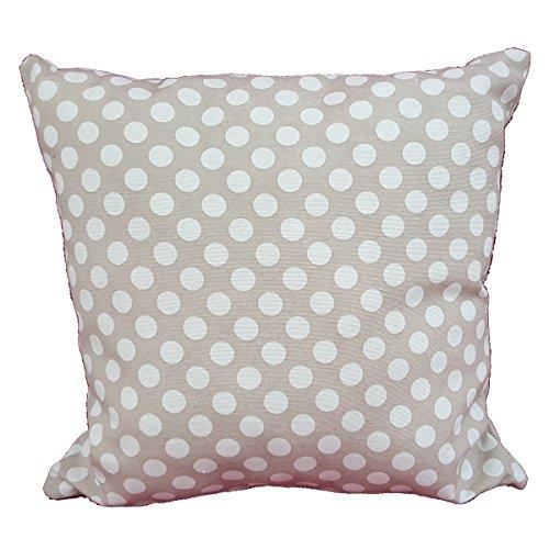 Cuscino salotto in cotone SHABBY cuore rosso pois bianco 40x40 arredo arredamento casa divano letto MADE IN ITALY Euronovit/à Srl