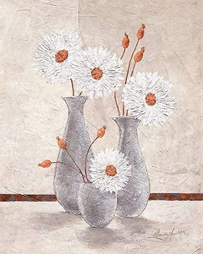 Keilrahmen-Bild - Claudia Ancilotti: Lucky Day 40 x 50 cm Leinwandbild Stillleben modern Vasen Blüten