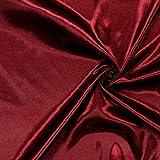 Fabulous Fabrics Satin bordeauxrot, Uni, 148cm breit –