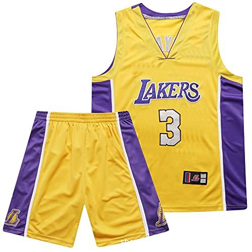 Lakers 3# Davis Baloncesto Jersey Juego, Jersey Swingman, réplica Camiseta del Estadio