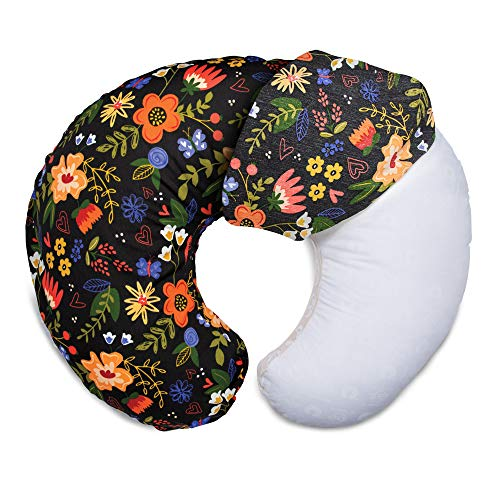 Boppy Original Nursing Pillow Cover, Black Floral, Cotton Blend Fabric with Allover Fashion, Fits All Boppy Nursing Pillows and Positioners