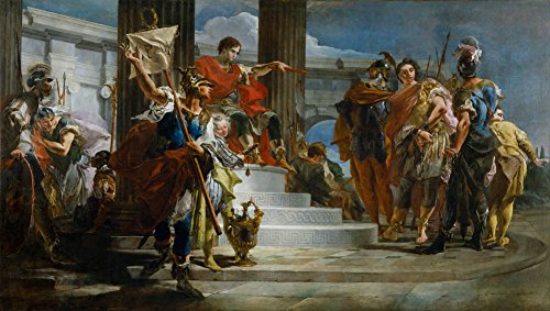 Giovanni Battista Tiepolo - Scipio Africanus Freeing Massiva, Size 20x36 inch, Canvas Art Print Wall décor