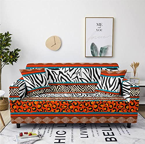 Stretch Sofa Cover Leopard Pattern 4 Seater Printing All-Inclusive Couch Cover Elastic Polyester Spandex Sofa Covers Universal Urniture Protective Decorative Slipcovers